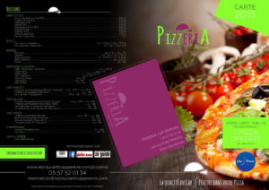 creation menu pizzeria