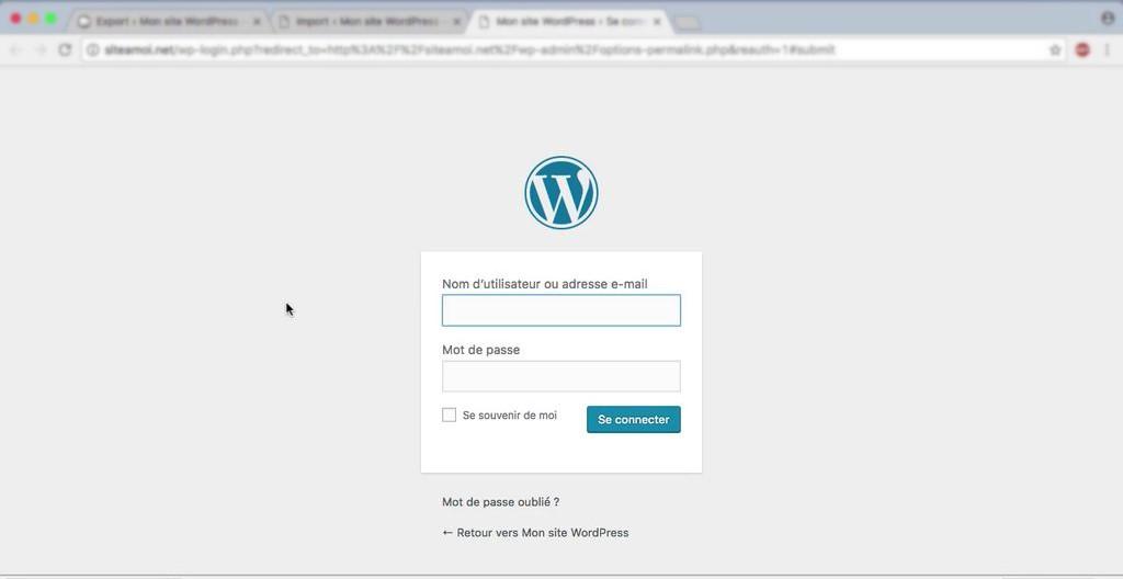 utilisation wordpress wp-admin