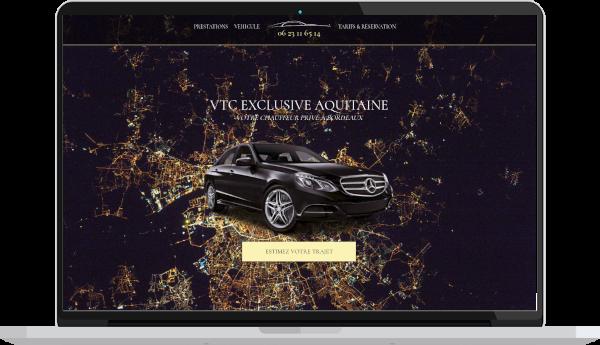 création de site internet vtc taxi